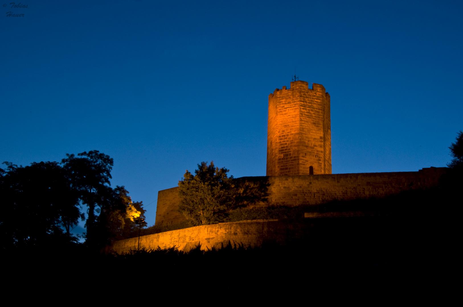 Burg Steinsberg zur blauen Stunde