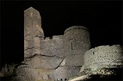 Burg Stolpen bei Nacht