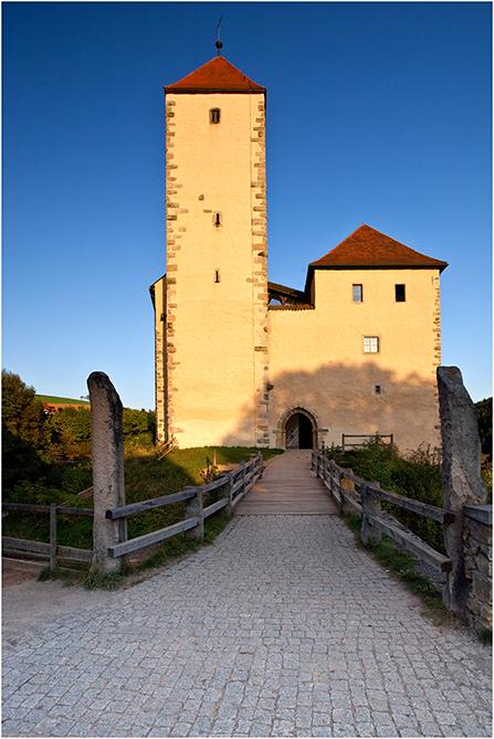 Burg Trausnitz in der Oberpfalz ! Am frühen Abend aufgenommen mit Polfilter.