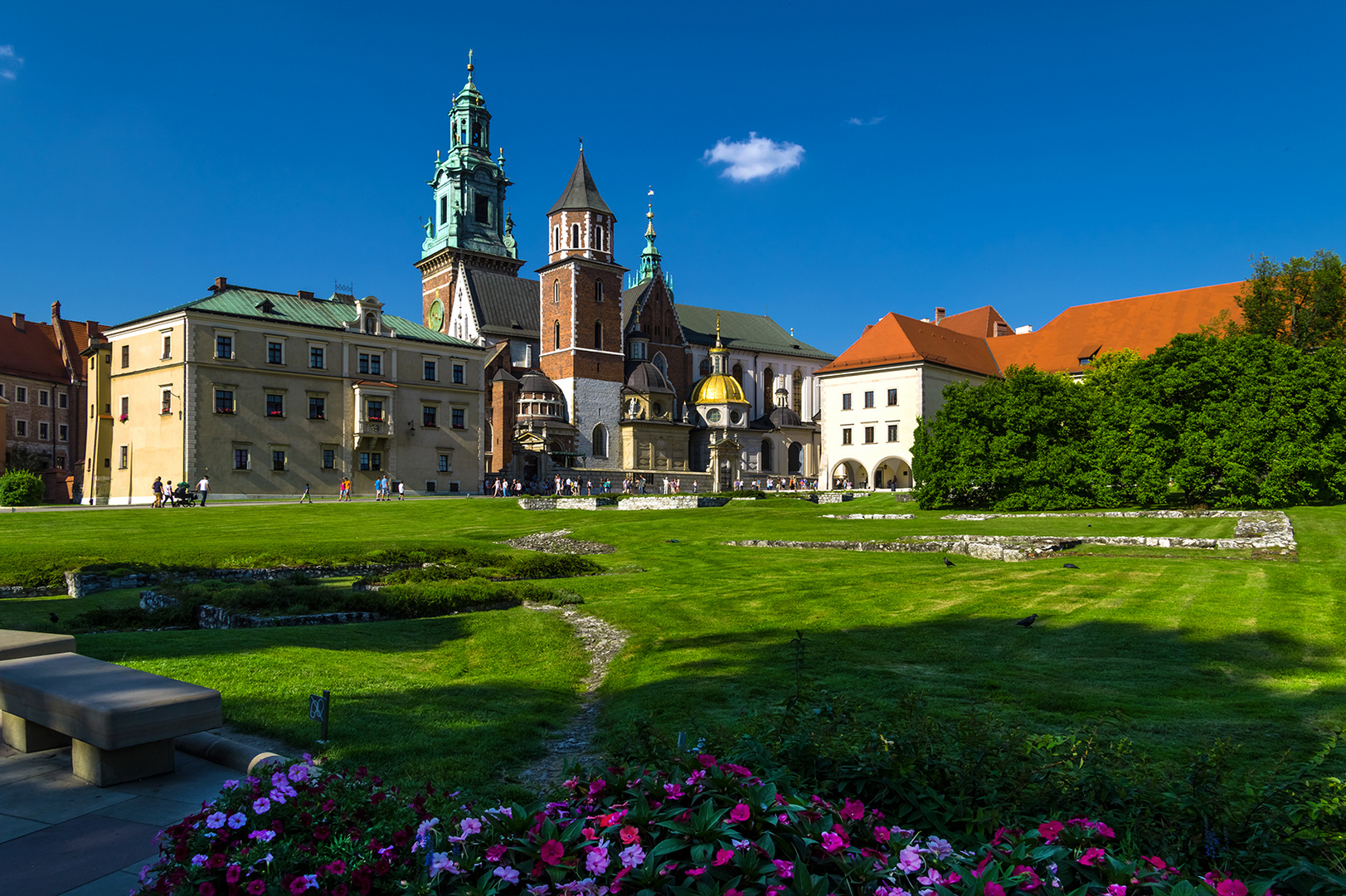 Burg Wawel, Innenhof mit Wawel-Kathedrale