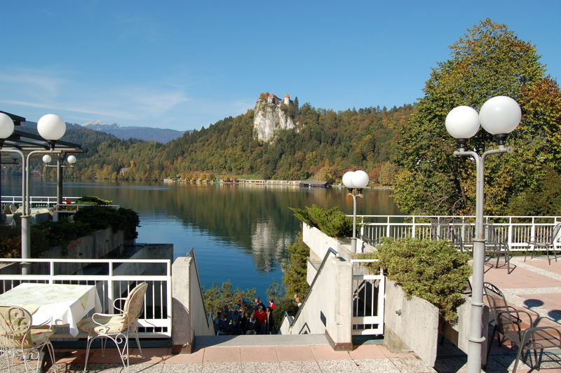 Burgblick in Bled