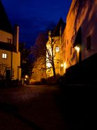 Burghauser Hofberg bei Nacht