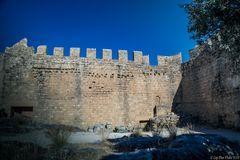 Burgmauer der Johanniterburg in Lindos