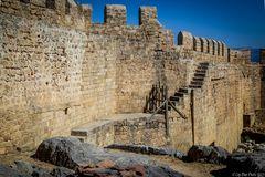 Burgmauern der Ritterburg des Johanitterordens