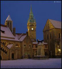 Burgplatz im Winter