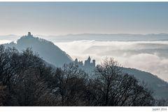 Burgruine Drachenfels und Schloss Drachenburg...