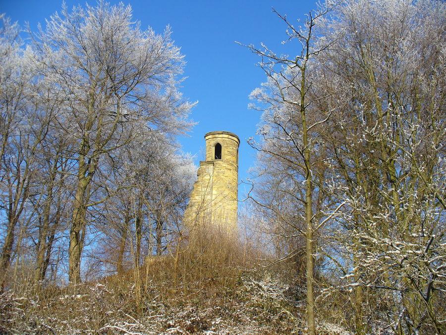 Burgruine im Wintermärchen