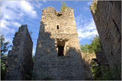 Burgruine Leonrod - der erste Blick