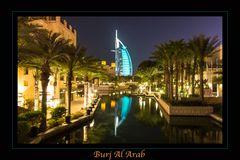 Burj Al Arab by night