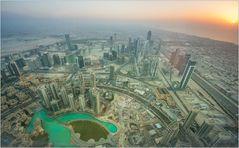 Burj Khalifa bei Sonnenuntergang