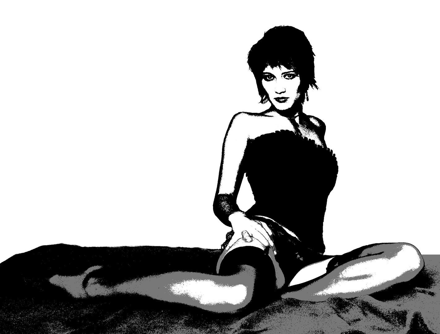 Burlesques Popart Bild
