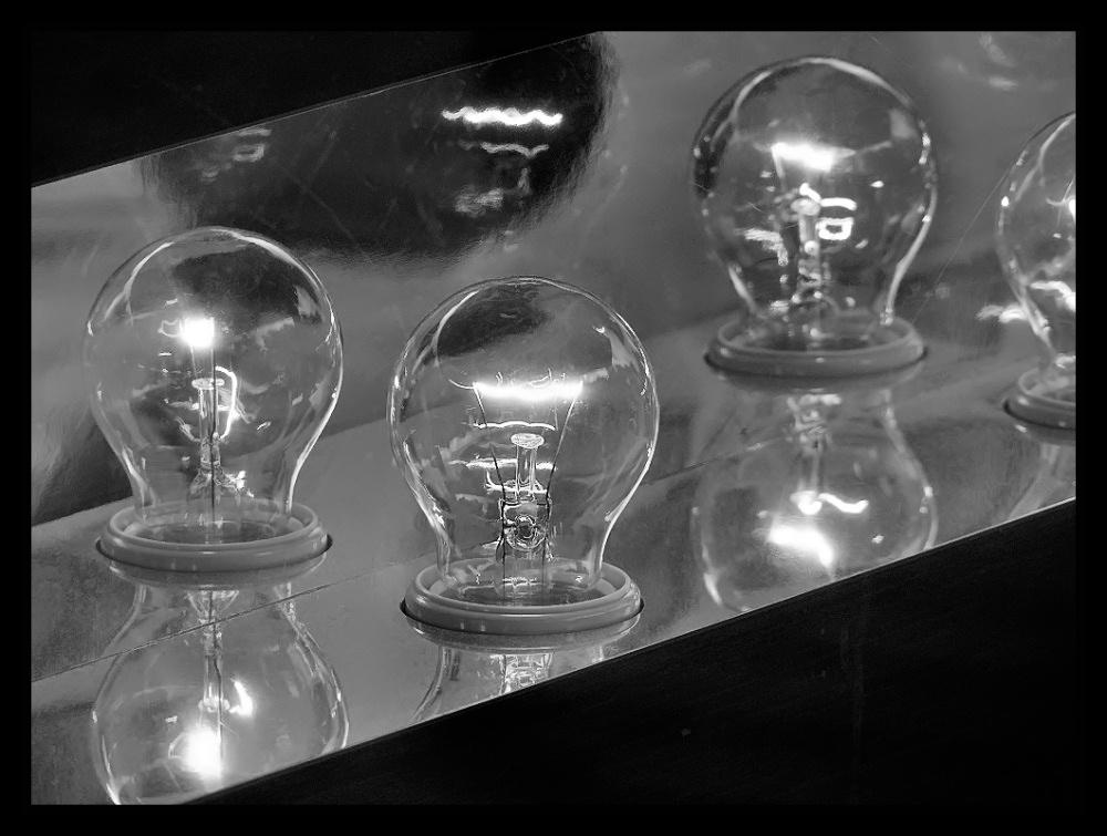 Burning lightbulbs