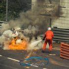 ... burning Porsche 911 GT3