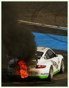 burning Porsche