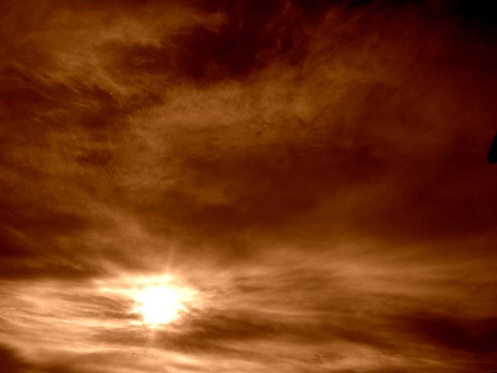 Burning sky.