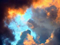 Burning Sky in Lombok, Indonsia
