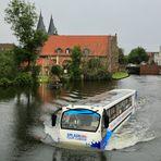Busfahrt durch Lübeck