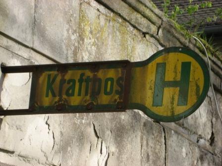 Bushaltestelle - Kraftpost ...... aus vergangen Zeiten