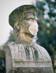 Busto di Machiavelli al tempo del Covid-19