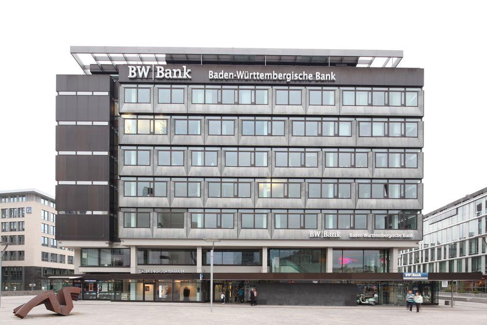 BW-Bank Stuttgart Kleiner Schlossplatz Foto & Bild