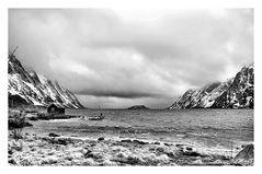 B.W. Norvegian landscape