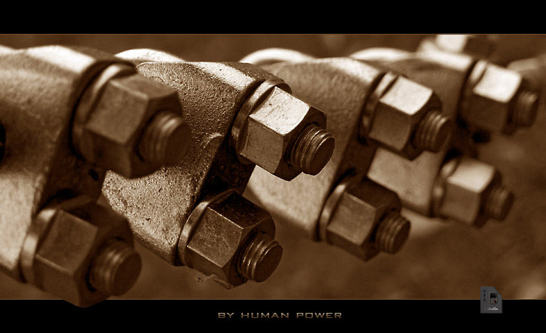 by human power
