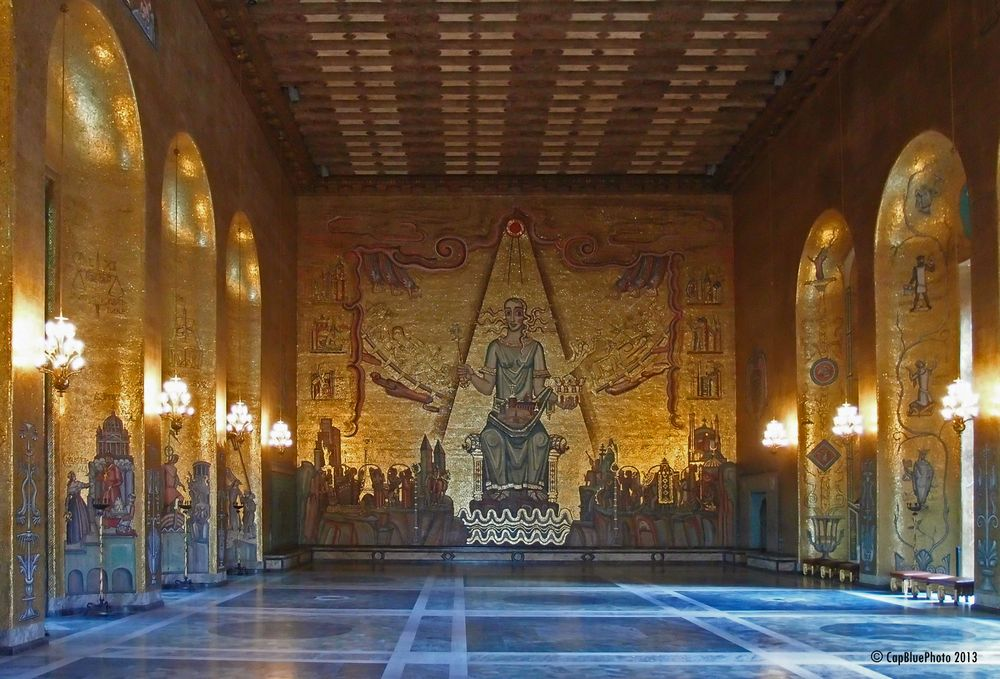 Byzantinische goldene Saal in Stockholms Stadshus