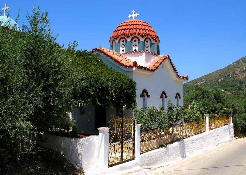 Byzantinischer  Bauart einer kleinen Kirche auf SAMOS/Greece 2007