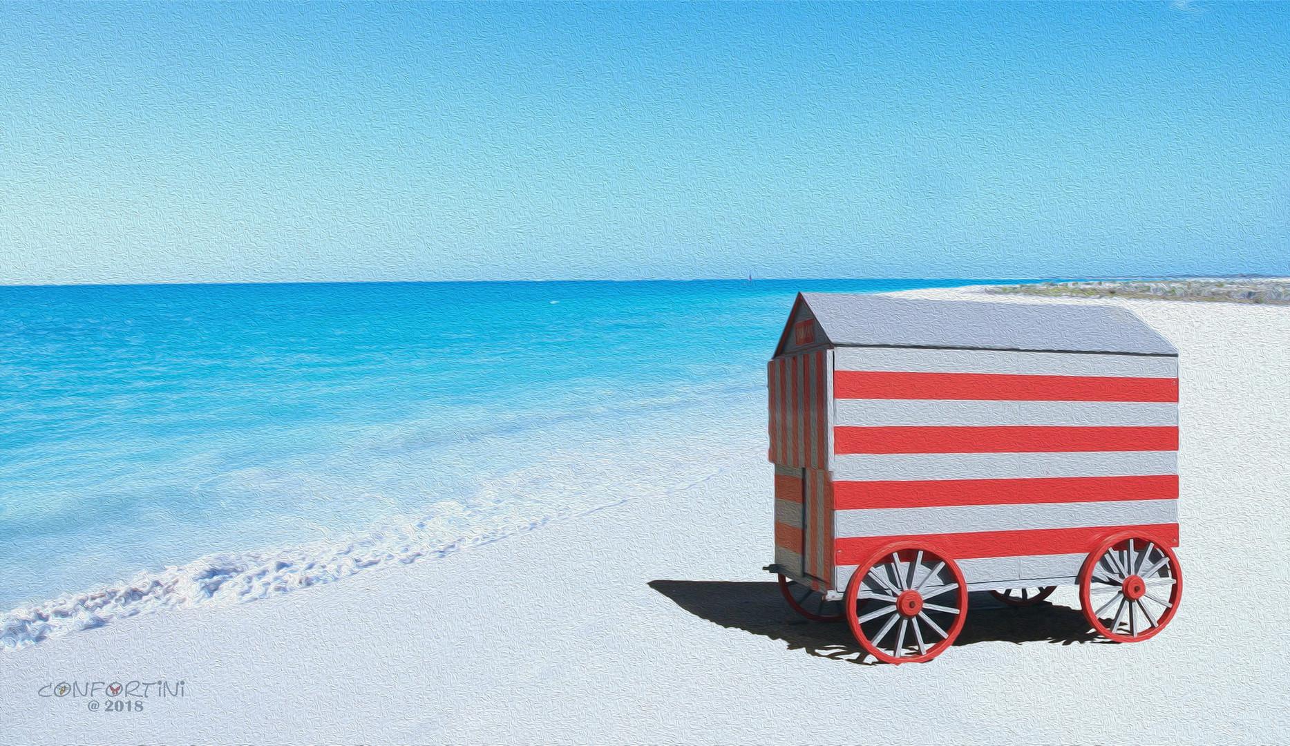 Cabina carrozzone a mare.