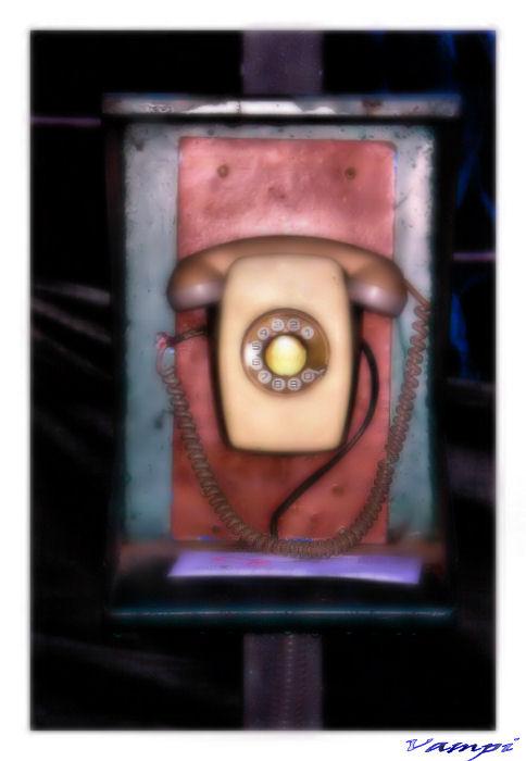 cabina de telefono antiguo