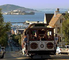 Cable Car vor Alcatraz