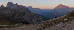 Cadinigruppe mit der 2839m hohen Cima Cadin di S. Lucano...