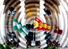 Cadiz - Rathausbalkon - verfremdet
