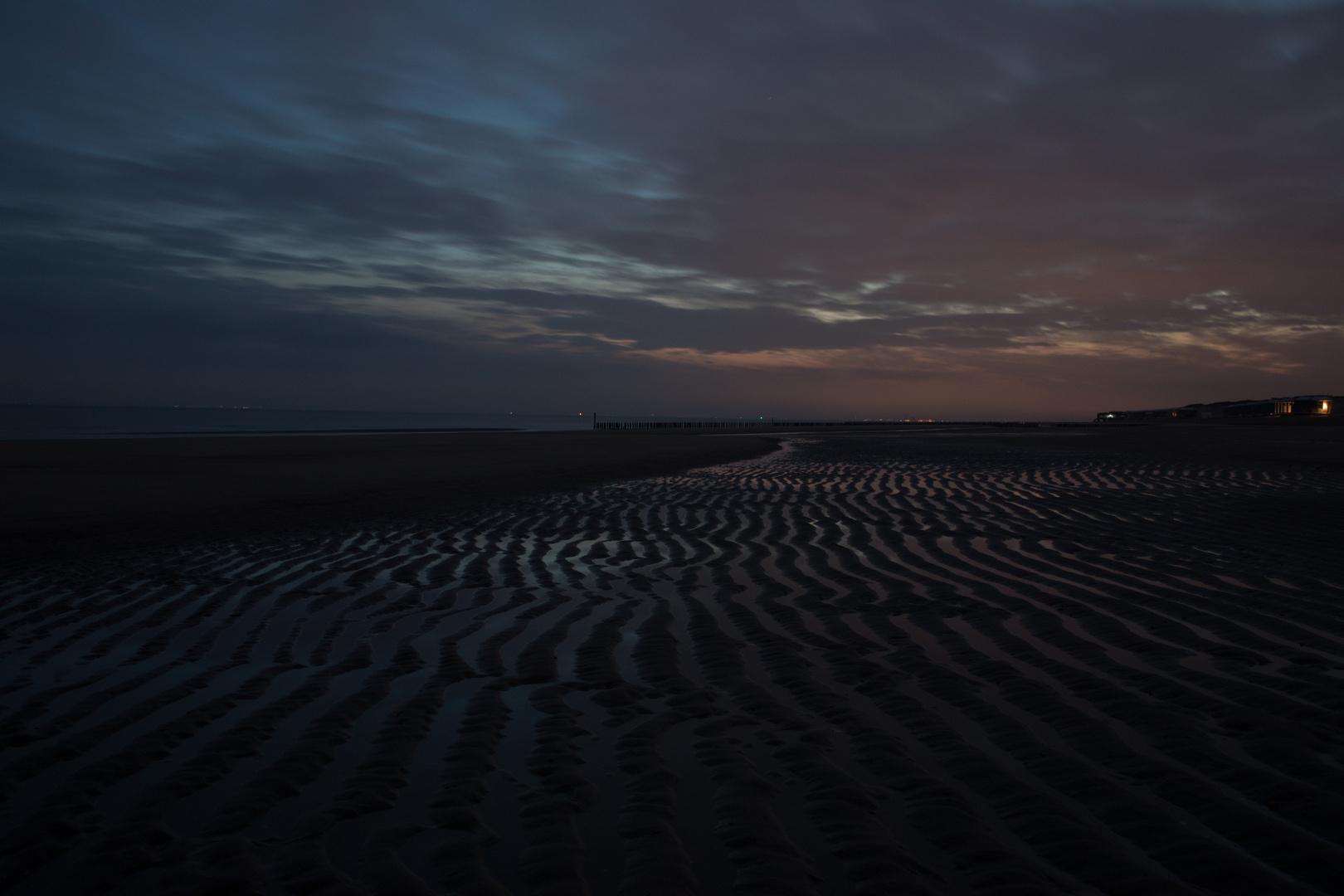 Cadzand Bad Strand - Erstes Morgenlicht 30 Sek. belichtet