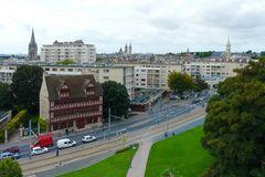 Caen - Blick von der Festung auf die Stadt