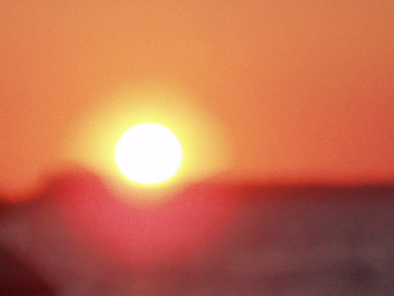 cafe del mar sundowner, abstract nature
