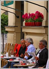 Cafehaustalk im Hofgarten (Odeonsplatz ) München