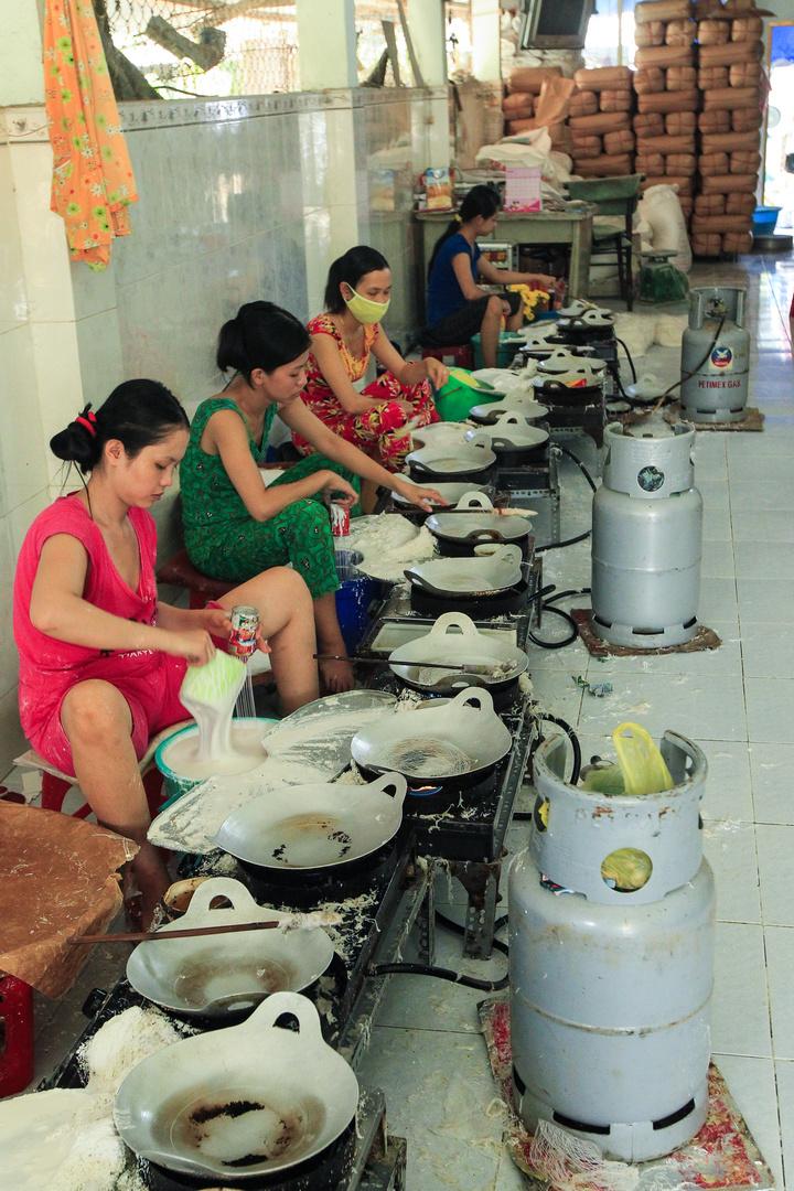 Cai Be, Reispapierherstellung
