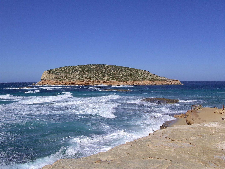 Cala Conta (Platges de Comte), Isla Bosc