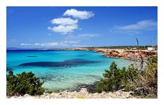 Cala Saona an der Westküste Formenteras