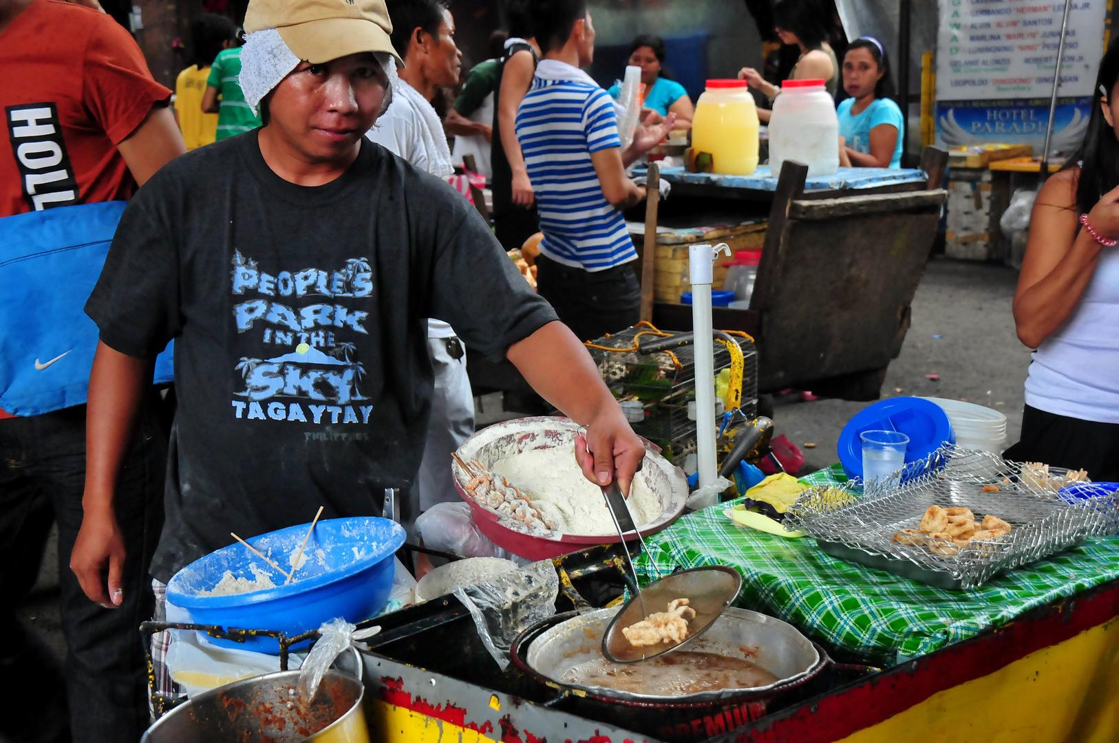 """"""" Calamares - Schnellimbiß """" , Manila - Sta. Cruz  Markt 2012"""