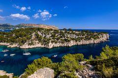 Calanque de Port Pin, Cassis, Provence, Frankreich