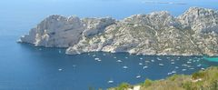 Calanque de Sormiou vue du col des Escourtines (Marseille)