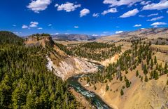 Calcite Springs am Yellowstone River, Wyoming, USA