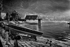 Caldè, barche ormeggiate