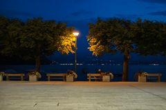Caldè, piazza lago