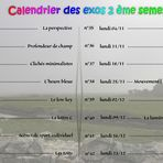 calendrier second semestre 2019