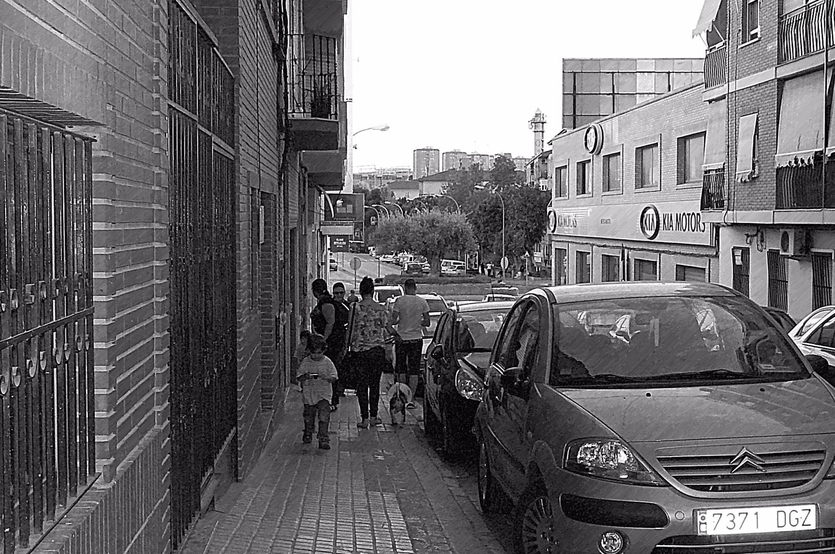 Calle con gente