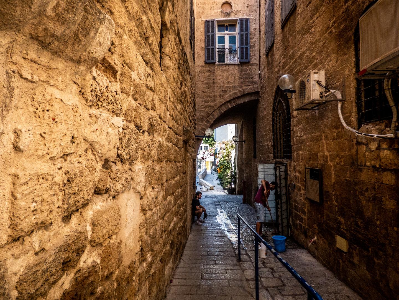 Calle de la ciudad vieja de Jaffa, Israel