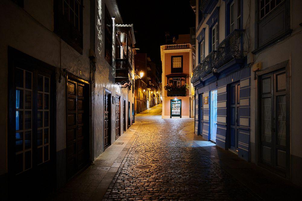 Calles nocturnas de Santa Cruz de La Palma